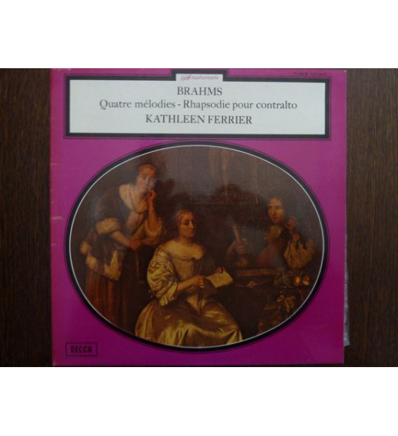 Kathleen Ferrier - Johannes Brahms - Rhapsody For Contralto, Male Chorus And Orchestra ‧ Four Songs (LP, Mono)