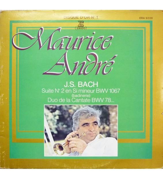 Maurice André, J.S. Bach* - Suite No. 2 En Si Mineur BWV 1067 (Badinerie), Duo De La Cantate BWV 78 ... (LP, Comp) mesvinyles.