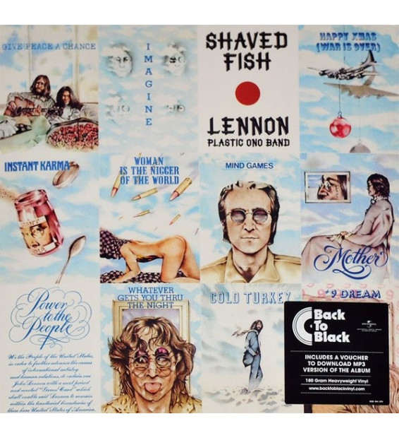 John Lennon / The Plastic Ono Band - Shaved Fish compilation mesvinyles.fr