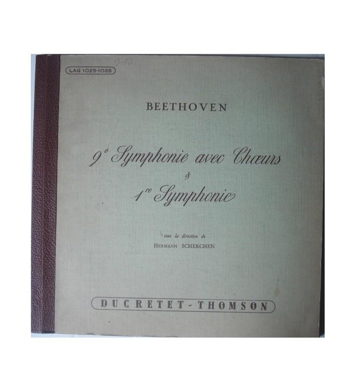 Beethoven*, Hermann Scherchen - 9e Symphonie Avec Choeurs & 1re Symphonie (2xLP, Gat) mesvinyles.fr