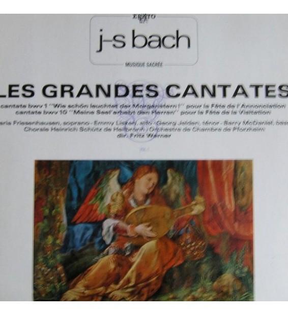 Johann Sebastian Bach - Les Grandes Cantates Vol 1 . Fritz Werner Cantates Bwv 1, 10 (LP)