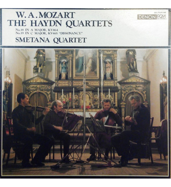 "W. A. Mozart* - Smetana Quartet - The Haydn Quartets - No.18 In A Major, KV464 / No.19 In C Major, KV465 ""Dissonance"" (LP)"