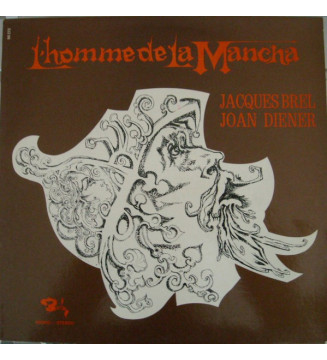 Jacques Brel, Joan Diener - L'Homme De La Mancha (LP, Album, RE)