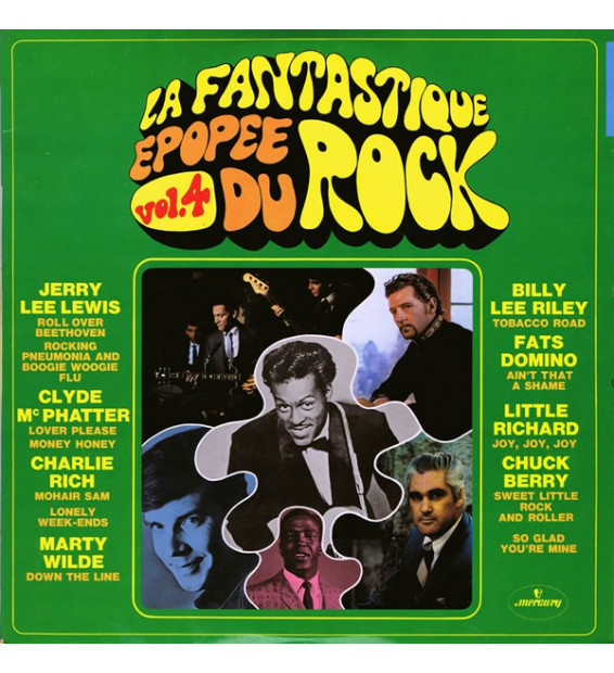Various - La Fantastique Epopée Du Rock Vol.4 (LP, Comp) mesvinyles.fr