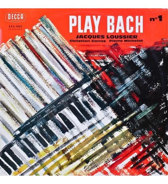 Jacques Loussier, Christian Garros, Pierre Michelot - Play-Bach N° 1 (LP, Mono)