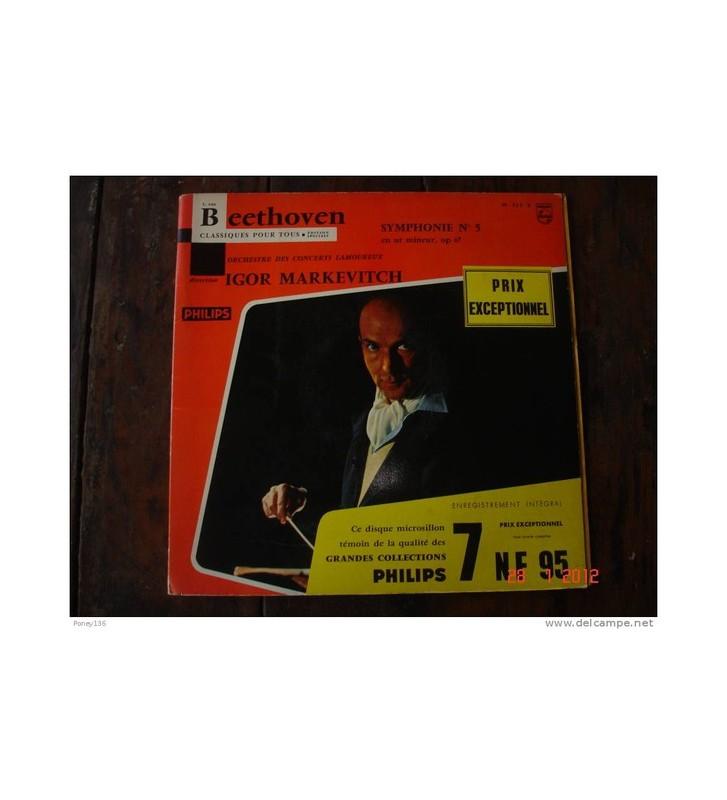 """Beethoven* / Orchestre Des Concerts Lamoureux , Direction Igor Markevitch - Symphonie N° 5 (10"""", Mono, Gat) mesvinyles.fr"""
