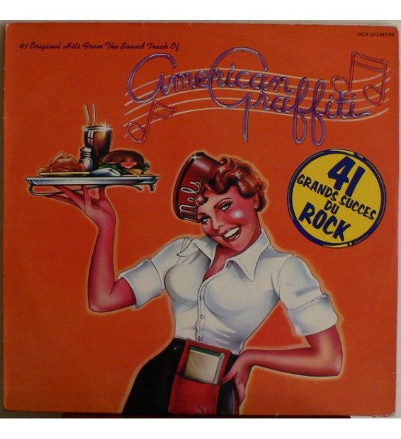 Various - 41 Original Hits From The Sound Track Of American Graffiti (2xLP, Comp, Gat) mesvinyles.fr