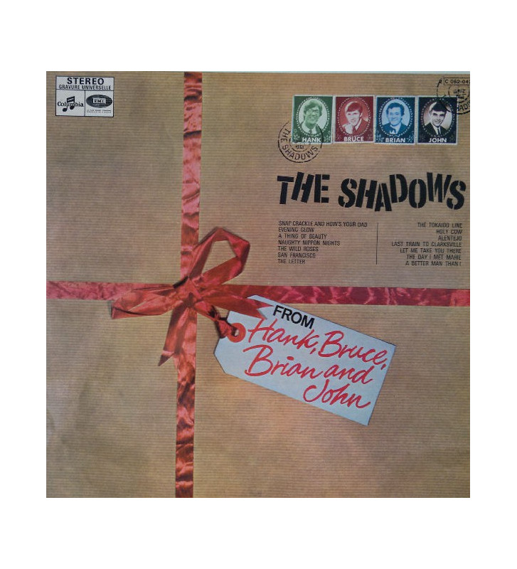 The Shadows - From Hank, Bruce, Brian & John (LP, Album, RE) mesvinyles.fr
