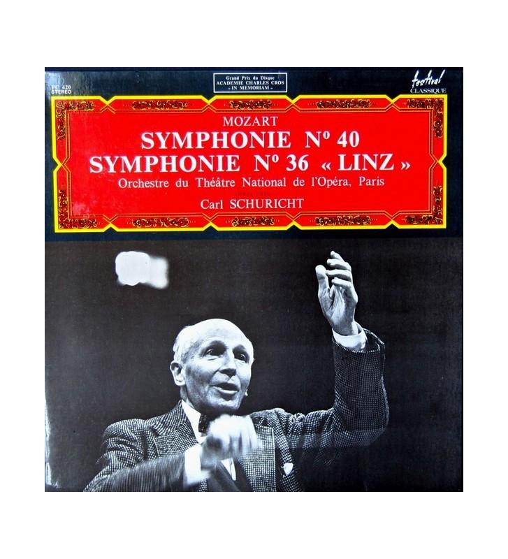 """Mozart*, Orchestre Du Théâtre National De L'Opéra, Paris* Direction Carl Schuricht - Symphonie N° 40 / Symphonie N° 36 """"Linz"""" ("""