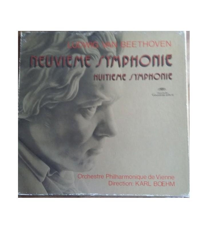 Ludwig Van Beethoven, Orchestre Philharmonique De Vienne*, Karl Boehm* - Neuvième Symphonie / Huitième Symphonie (2xLP, Comp +