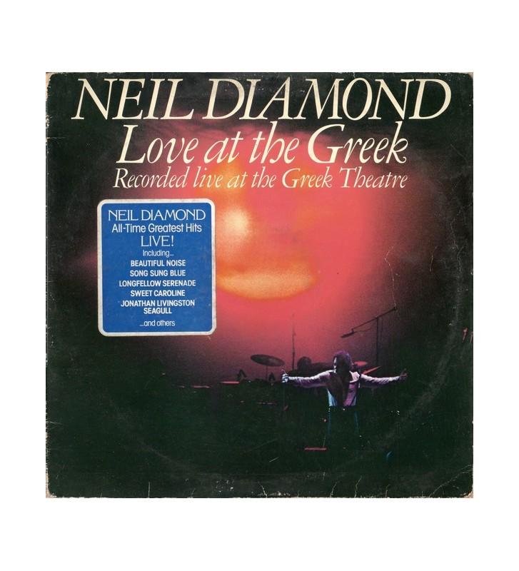Neil Diamond - Love At The Greek - Recorded Live At The Greek Theatre (2xLP, Album, Gat) mesvinyles.fr