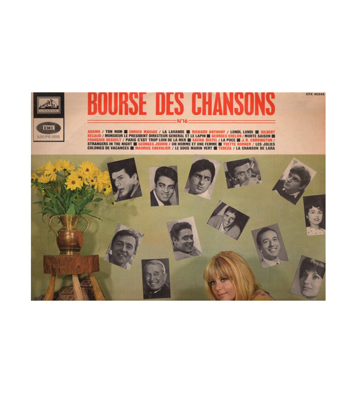 Various - La Bourse Des Chansons Pathé-Marconi N°16 (LP, Comp) mesvinyles.fr
