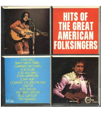 Various - Hits Of The Great American Folksingers (2xLP, Comp) mesvinyles.fr
