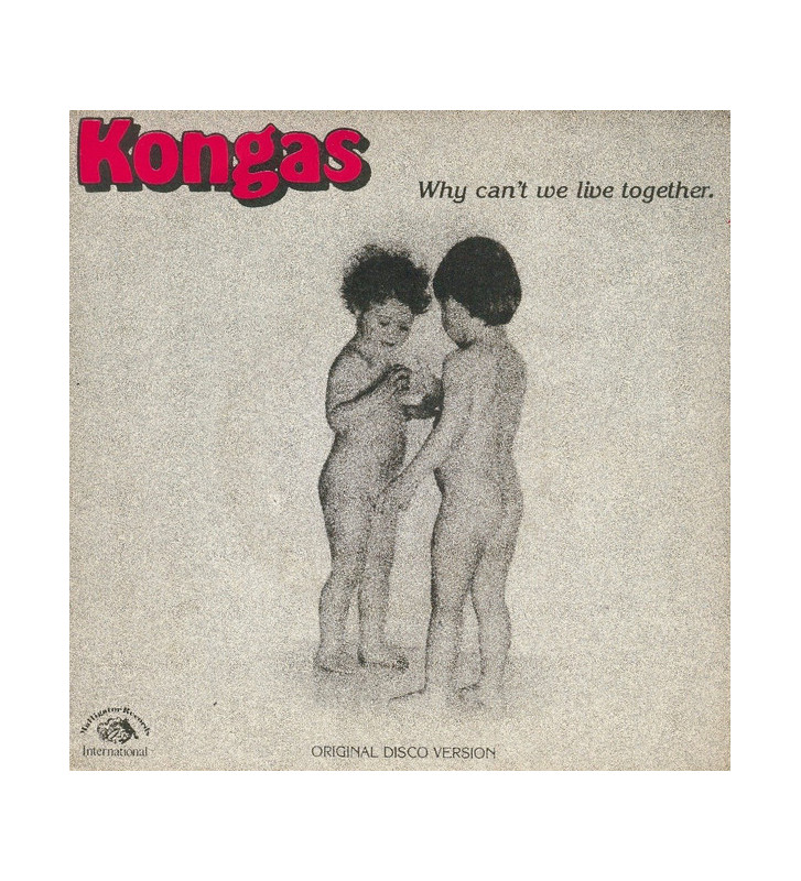 """Kongas - Why Can't We Live Together (12"""", Maxi) mesvinyles.fr"""