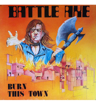 Battleaxe - Burn This Town (LP, Album) mesvinyles.fr