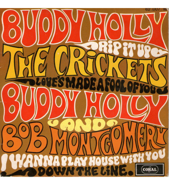 "Buddy Holly, The Crickets (2), Bob Montgomery - Rip It Up (7"", EP) mesvinyles.fr"