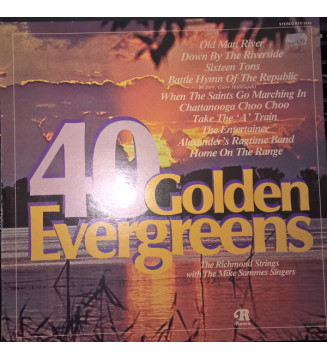 The Richmond Strings with The Mike Sammes Singers* - 40 Golden Evergreens (LP, RE) mesvinyles.fr
