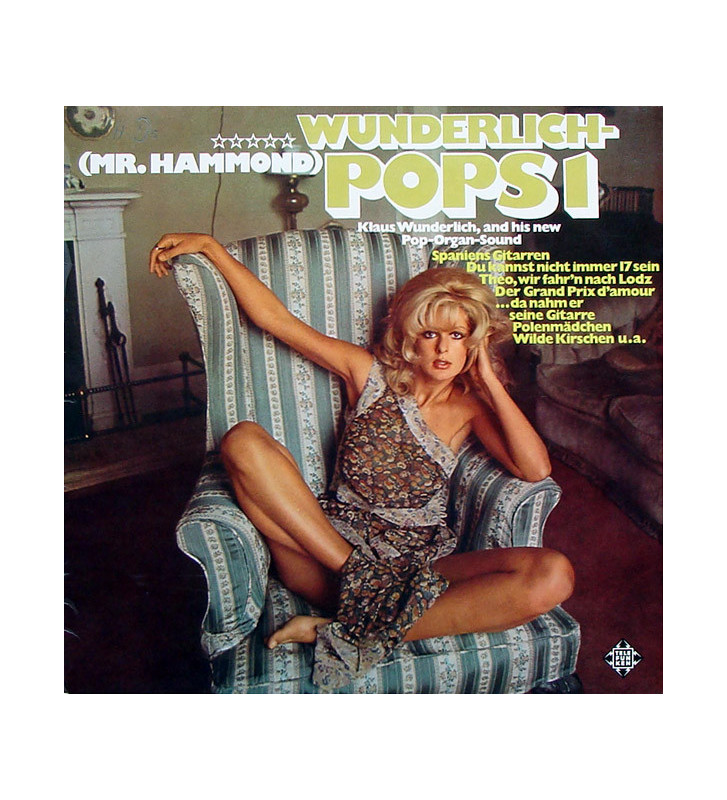 Klaus Wunderlich - Wunderlich-Pops 1 (Mr. Hammond Klaus Wunderlich And His New Pop-Organ-Sound) (LP) mesvinyles.fr
