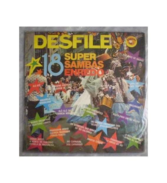 Various - Desfile 18 Super Sambas Enredo (LP, Comp)