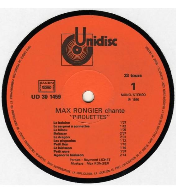 "Max Rongier - Chante ""Pirouettes"" ""Galipettes"" Comptines De Raymond Lichet (LP, Album)"