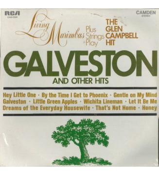 Living Marimbas Plus Strings - Galveston And Other Hits (LP) mesvinyles.fr