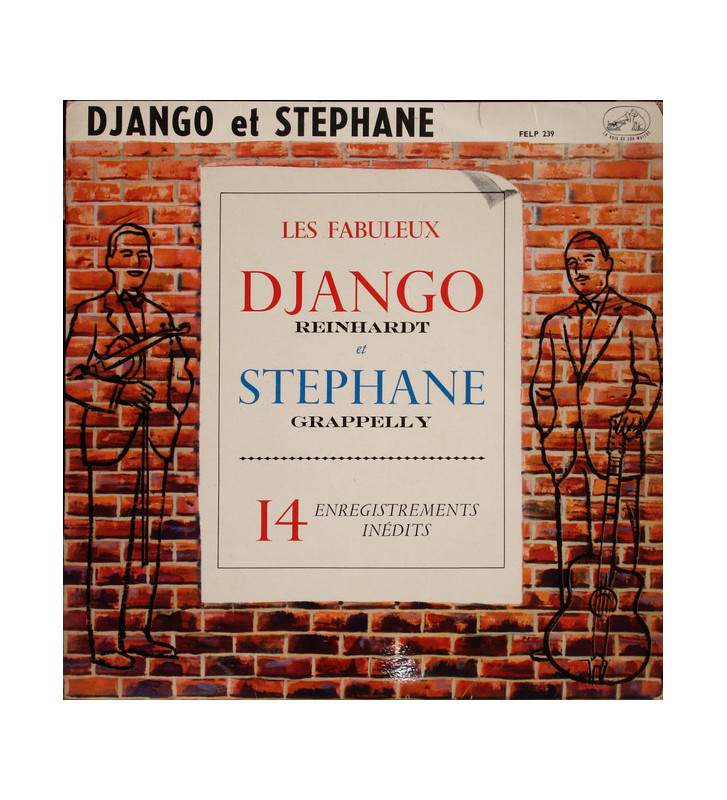 Django Reinhardt, Stéphane Grappelly* - Django Et Stéphane - 14 Enregistrements Inédits (LP, Album) mesvinyles.fr