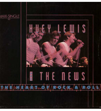 "Huey Lewis And The News* - The Heart Of Rock & Roll (12"", Maxi) mesvinyles.fr"