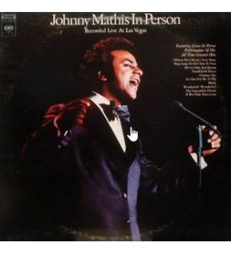 Johnny Mathis - In Person - Recorded Live At Las Vegas (2xLP, Album, Gat) mesvinyles.fr