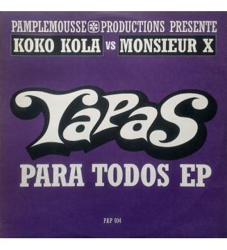 """Koko Kola Vs Monsieur X - Tapas Para Todos EP (12"""", EP) mesvinyles.fr"""