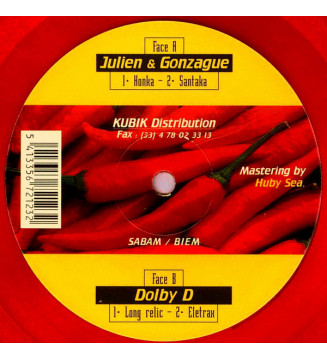 """Julien & Gonzague* / Dolby D - Mirage 04 (12"""", Cle) mesvinyles.fr"""