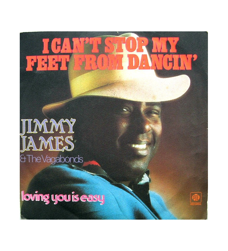 """Jimmy James & The Vagabonds - I Can't Stop My Feet From Dancin' (7"""", Single) mesvinyles.fr"""