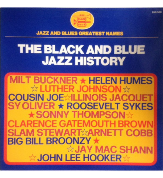 Various - The Black And Blue Jazz History (LP, Comp, Gat)