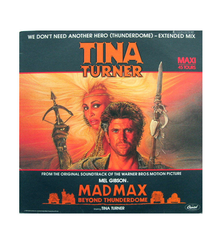 "Tina Turner - We Don't Need Another Hero (Thunderdome) - Extended Mix (12"", Maxi) mesvinyles.fr"