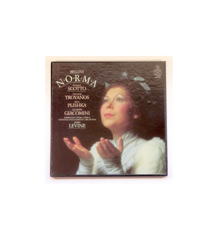 Vincenzo Bellini, Renata Scotto, The Ambrosian Opera Chorus, National Philharmonic Orchestra, James Levine (2) - Norma (3xLP) me
