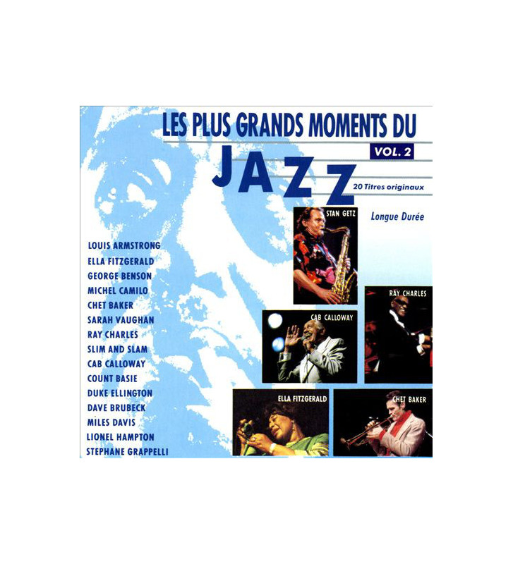 Various - Les Plus Grands Moments Du Jazz Vol.2 (2xLP, Comp) mesvinyles.fr