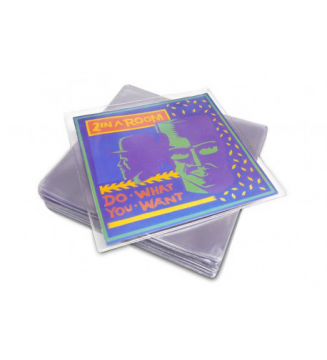 20 Pochettes protection vinyle 45T 150 microns PVC