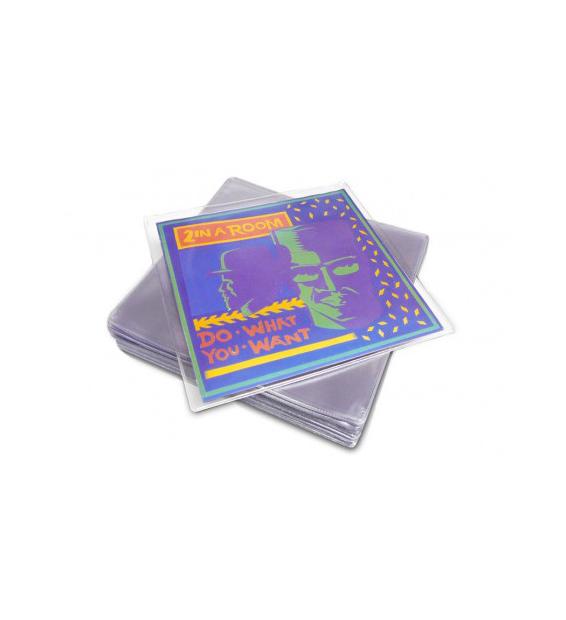20 Pochettes protection vinyle 45T 150 microns PVC mesvinyles.fr