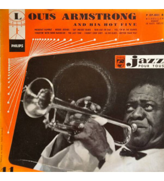 "Louis Armstrong And His Hot Five* - Louis Armstrong & His Hot Five (10"", Comp) mesvinyles.fr"