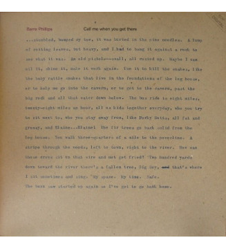 Barre Phillips - Call Me When You Get There (LP, Album) mesvinyles.fr