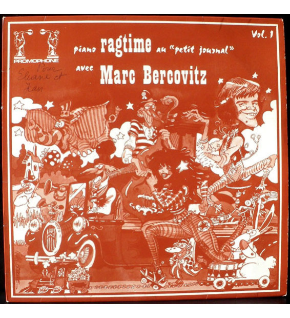 "Marc Bercovitz - Piano Ragtime Au ""Petit Journal"" - Vol 1 (LP, Album) mesvinyles.fr"