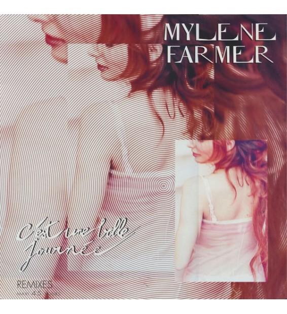 """Mylene Farmer* - C'Est Une Belle Journée (Remixes) (12"""", Maxi, Pic) mesvinyles.fr"""