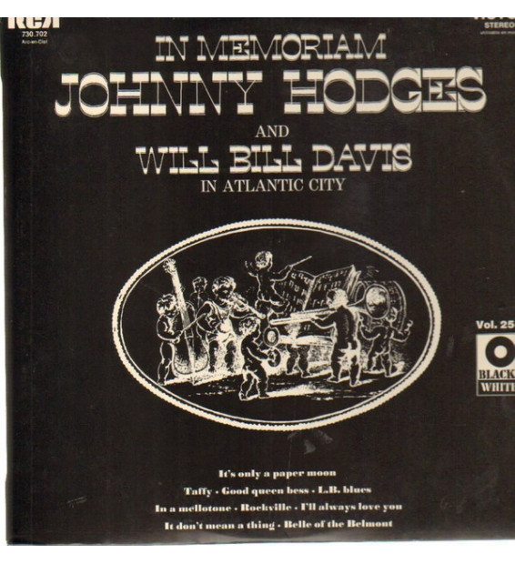 Johnny Hodges, Will Bill Davis, Lawrence Brown, Bob Brown - In Memoriam Johnny Hodges and Will Bill Davis in Atlantic City (LP,