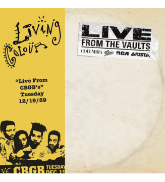 "Living Colour - ""Live From CGGB's"" Tuesday 12/19/89 (2xLP, RSD) BLACK FRIDAY 2019 mesvinyles.fr"