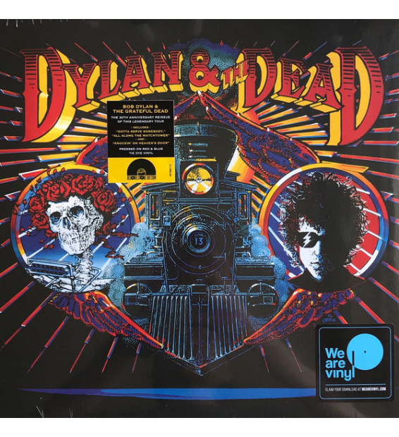 Dylan* & The Dead* - Dylan & The Dead (LP, Album, Ltd, RE, Red) mesvinyles.fr