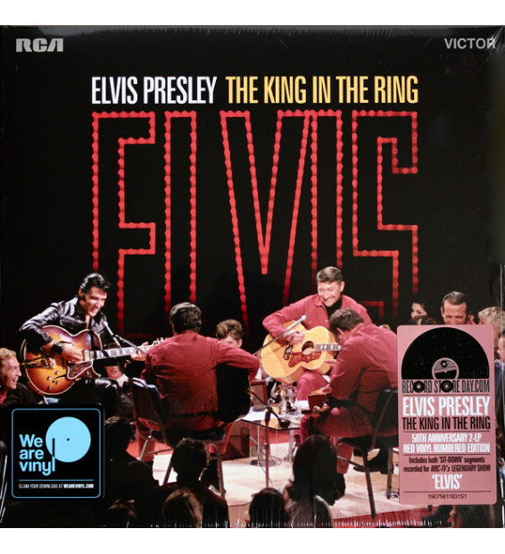 Elvis Presley - The King In The Ring (2xLP, Album, Num, Red) mesvinyles.fr
