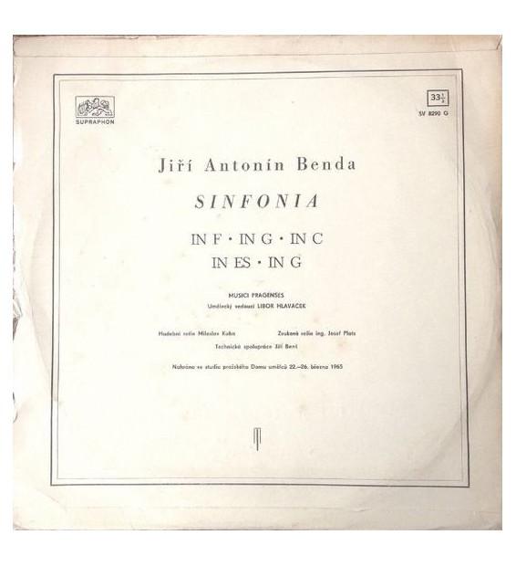 Jiří Antonín Benda* - Sinfonia (LP, RP) mesvinyles.fr