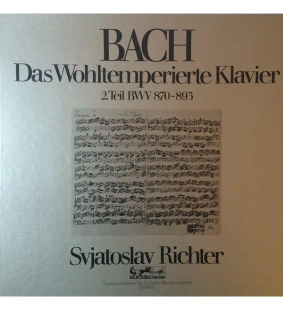 Bach*, Svjatoslav Richter* - Das Wohltemperierte Klavier 2.Teil BWV 870-893 (3xLP, RE + Box, RE) mesvinyles.fr