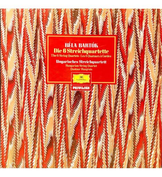 Bela Bartok* - Hungarian String Quartet* - Die 6 Streichquartette (The 6 String Quartets, Les 6 Quatuors À Cordes) (3xLP, RE +