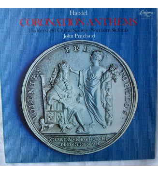 Huddersfield Choral Society Northern Sinfonia and John Pritchard - Handel Coronation Anthems (LP, Album) mesvinyles.fr