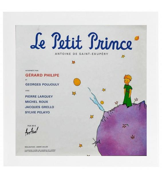 Le Petit Prince avec son Cadre Blanc Pour Disque Vinyle mesvinyles.fr